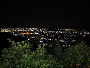 静岡の夜景スポット:梶原山公園・帆掛山一本松公園