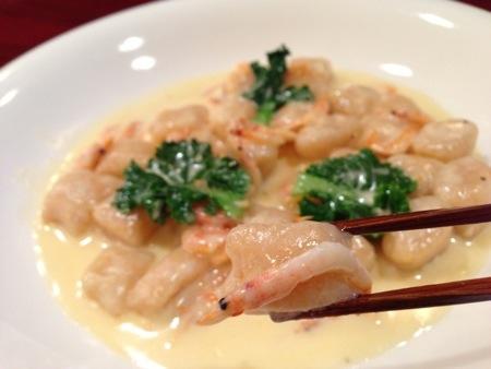 駿河湾産・桜えびのニョッキ、クリームソース!@西洋食堂PaPa