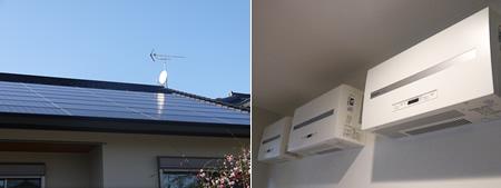 ソーラーパネルと発電パネル