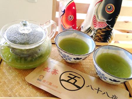 倉沢園さんの新茶
