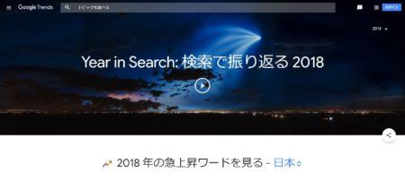 2018年Google検索ランキング