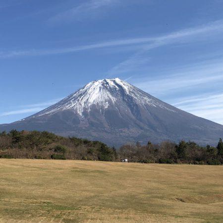 朝霧高原アリーナからの富士山