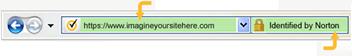 EV SSLのブラウザ表示