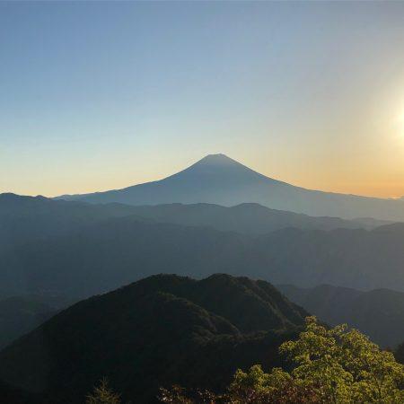 バラの段からの富士山